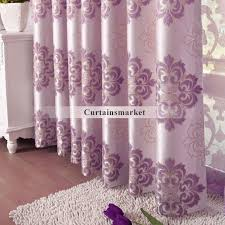 Purple And White Curtains Jacquard Patterned Purple Drapes Curtains