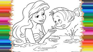 ariel disney princess coloring page l coloring markers videos for