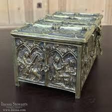 Vanity Box 19th Century Cast Bronze Desktop Vanity Box Inessa Stewart U0027s