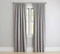 How To Hang Pottery Barn Curtains Cameron Cotton Pole Pocket Drape Pottery Barn