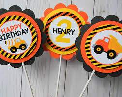Construction Party Centerpieces by Construction Paper Etsy