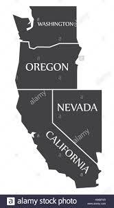 map of oregon nevada washington oregon nevada california map labelled black stock