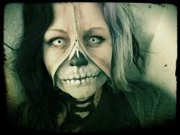 Skeleton Face Paint For Halloween by Halloween Zipped Skull Face Youtube