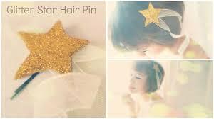 diy hair accessories felt glitter star hairpin tutorial youtube