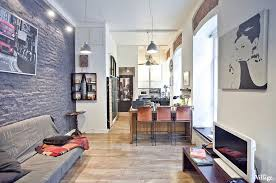brick wall apartment small two level apartment with brick walls 4betterhome