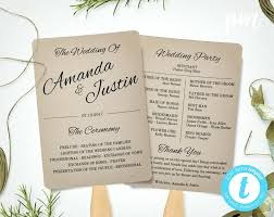 wedding program paddle fan template template wedding program paddle fan template large size of