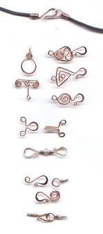 jewellery necklace clasps images Wire clasp inspiration plus a free tutorial for an egyptian spiral jpg