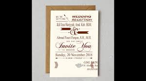 membuat video wedding invitation wedding invitation video undangan pernikahan youtube
