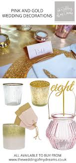 Wedding Favors Uk by Dusky Pink And Gold Wedding Decorations And Ideas