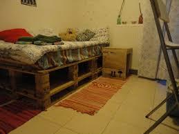 Pallet Bed Furniture Ideas My Neighbour U0027s Pallet Bed U0026 The Bedside Project U2022 1001 Pallets