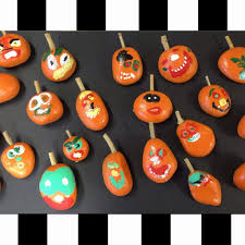 rock pumpkin halloween craft make life lovely