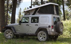 jeep camping gear ursa minor jeep wrangler first drive truck trend