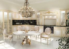 luxury kitchen furniture luxury photo kitchen design with classic chandelier above