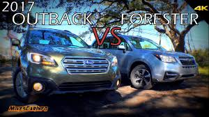 tan subaru outback ultimate comparison 2017 subaru outback vs forester youtube