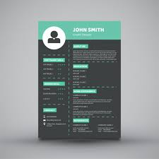 Resume Template Modern by Modern Resume Template Design Vector Premium