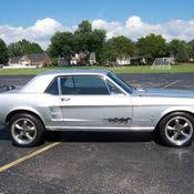 Silver Mustang With Black Stripes 1966 Mustang Convertible Silver W Blue Stripes Like New For Sale