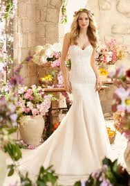 pink embroidered wedding dress morilee bridal madeline gardner embroidered appliques with