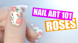 how to paint realistic roses on your nails nail art 101 youtube