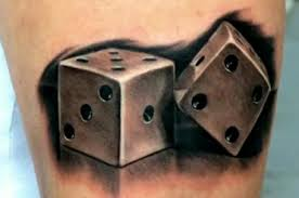 grey dice tattoomagz