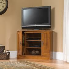 Sauder Tv Stands And Cabinets Harvest Mill Corner Entertainment Stand 404962 Sauder
