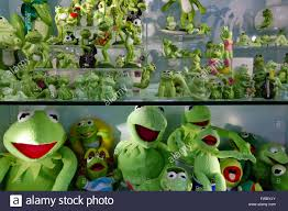 a large collection of ornamental frogs is incluidng china adn