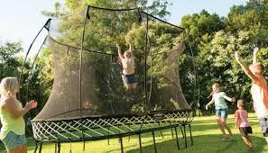 Trampoline Backyard So We U0027re Thinking About Buying A Trampoline Grkids Com