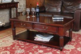 Mahogany Coffee Table With Two Drawers Charlotte Rose Interiors