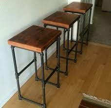 rustic industrial bar stools kosas home dixon rustic brown and black reclaimed pine and iron
