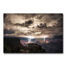 amazon com wall art painting lightning strikes in the grand