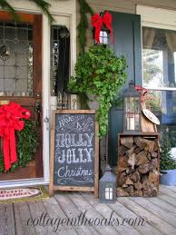 Christmas Window Box Decorating Ideas by This Little House Of Mine Christmas Porch Decorating Ideas