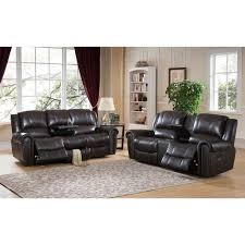 Top Grain Leather Reclining Sofa Furniture And Loveseat Sets Luxury Amax Top Grain