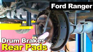 2003 ford ranger drum brake shoes youtube