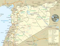 map of syria syria map damascus asia