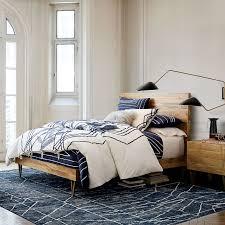 Brass Bedroom Furniture by Roar Rabbit Brass Geo Inlay Bed West Elm
