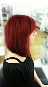 red brown long angled bobs angled bobs with bangs short hairstyles 2017 2018 most popular