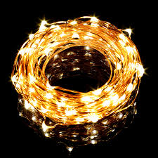 33ft warm white copper wire led string lights for