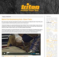Triton Woodworking Tools South Africa by Triton Tools Stories Of Those That Make Woodworkers Journal