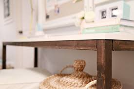 West Elm 2x2 Console Desk Iheart Organizing Studio Update Diy Wood Console Desk