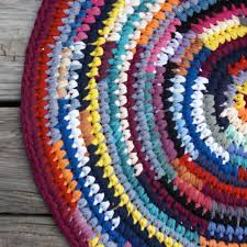 Fabric Rug This Is A Rag Rug That Deb Crocheted From T Shirts Over At The