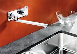 mitigeur evier cuisine avec douchette robinet de cuisine mural mitigeur evier blanco elos w mural chrome