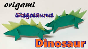 origami dinosaur easy but cool how to make a paper dinosaur