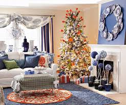 blue and orange decor fresh holiday decorating theme blue and orange better homes gardens