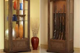 Glass Gun Cabinet Convertible Display And Gun Cabinet Downloadable Plan Wood Magazine