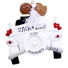 personalized wedding christmas ornament just married personalized christmas ornament vintage