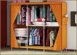 best home design ideas with portable orange fabric closet storage