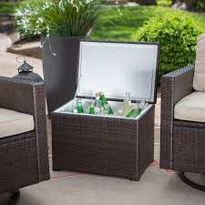 outdoor coffee table with storage entrancing outdoor side table with storage decor fresh at dining