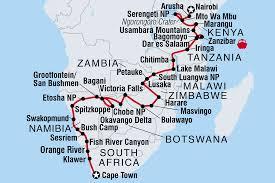 Botswana Map Botswana Tours U0026 Travel Intrepid Travel Ca