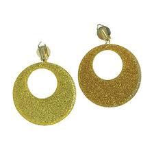 cd earrings 60 earrings 70s earrings 80s earrings 2 clip on plastic