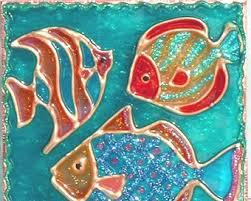 stained glass fish etsy