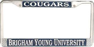 byu alumni license plate frame cougars brigham byu license plate frame school